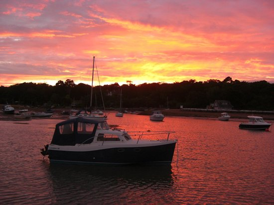The Fishbourne: Sunset at Wootton Creek, Fishbourne, Isle of Wight