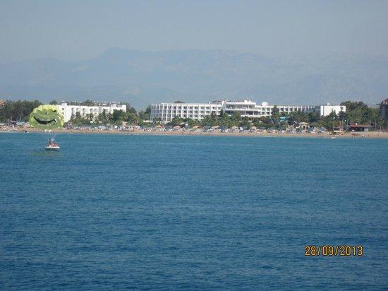 Club Calimera Kaya Side: вид с моря