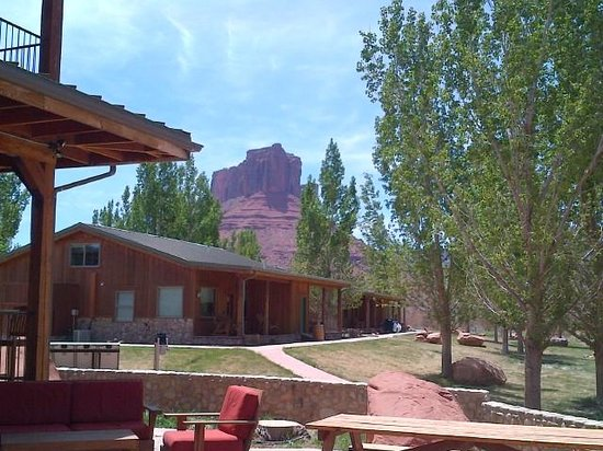 Sorrel River Ranch Resort and Spa: To the east off the patio