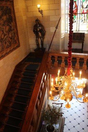 Chateau de Noizay : escalier