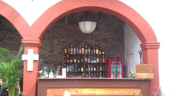 La cocina,  cafe del viajero: View of the bar, lower level