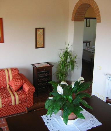 Ferienhaus In Toscana : Wonhzimmer FeWo Francecsa