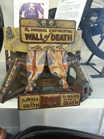 Sammy Miller Motorcycle Museum: wall of death model