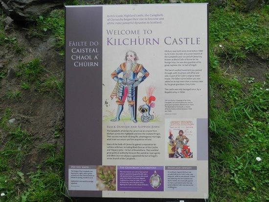 Kilchurn Castle: Info-Tafel