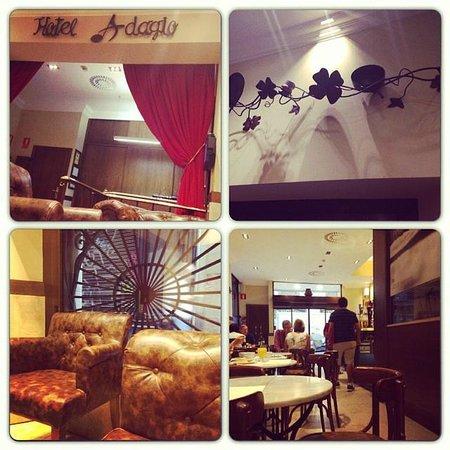 Hotel Adagio : reception/ristorante
