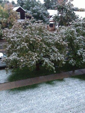 The Bradley Boulder Inn : 1st snowfall of the '13 winter season.