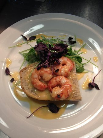 The George at Baldock: Tiger prawns