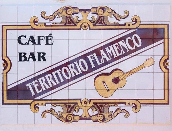 Territorio Flamenco: The sign outside