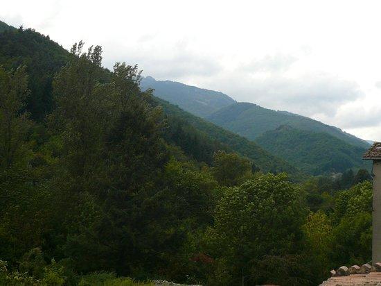 L'Auberge de Barnas : Vue de la chambre sur la montagne