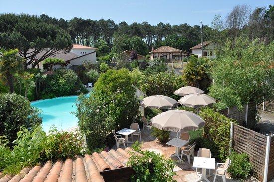 Atlantis Hotel Mimizan : chambre côté piscine
