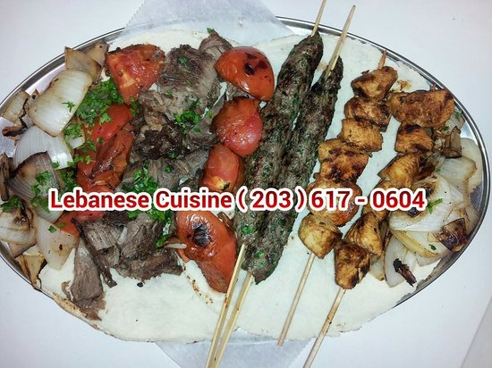 Lebanese Cuisine: Mixed Grilled Kababs with Grilled Vegetables