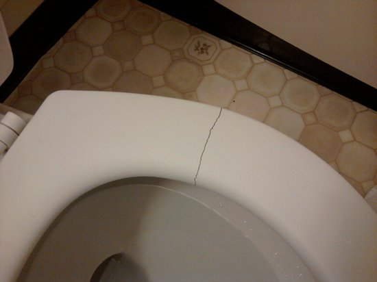 Days Inn & Suites: Cracked toilet seat that all of us pinched our behinds on!