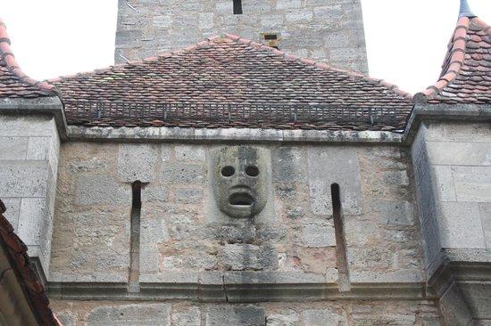 Burgtor und Burg: faccia