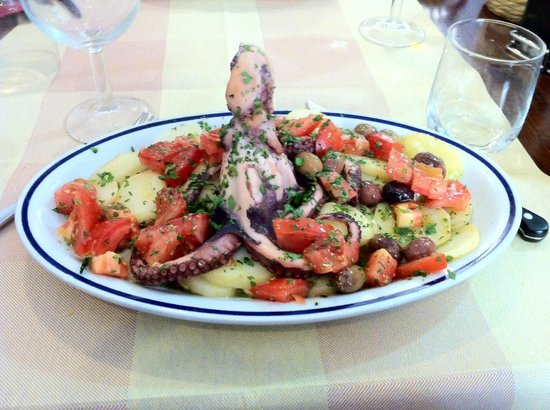 L'Osteria: Octopus, Potatoes and Tomatoes