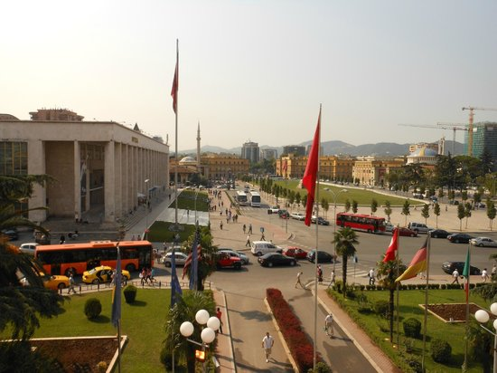 Tirana International Hotel & Conference Centre: View from breakfast