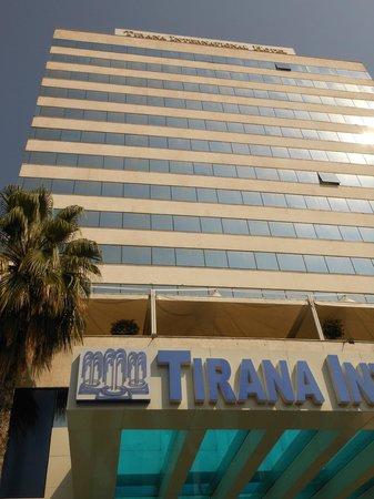 Tirana International Hotel & Conference Centre: The hotel close up