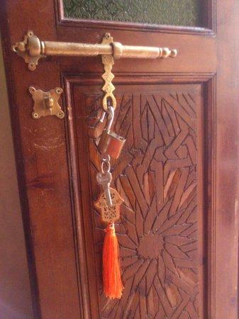 Riad Eva: our room key