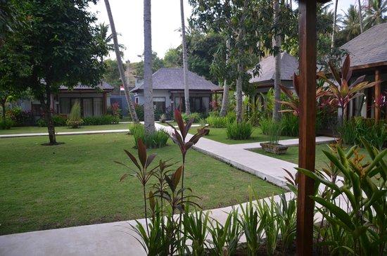 The Chandi Boutique Resort & Spa : jardin devant la chambre