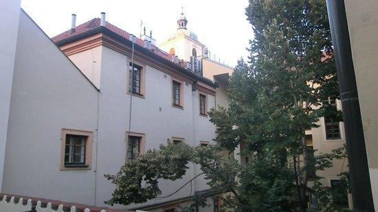 U Cerneho Medveda- At The Black Bear : View from balcony