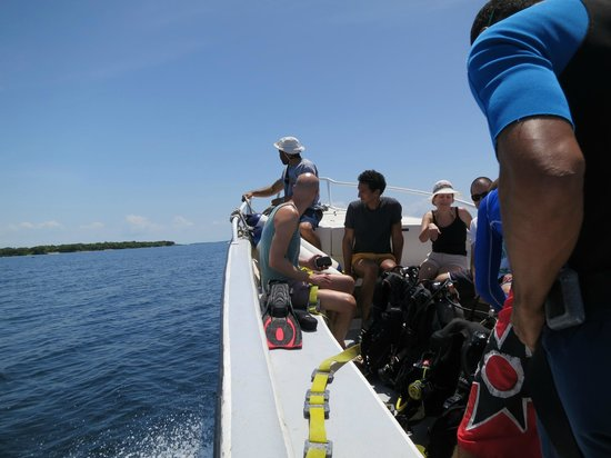No barco indo para o primeiro ponto de mergulho picture for Dive planet
