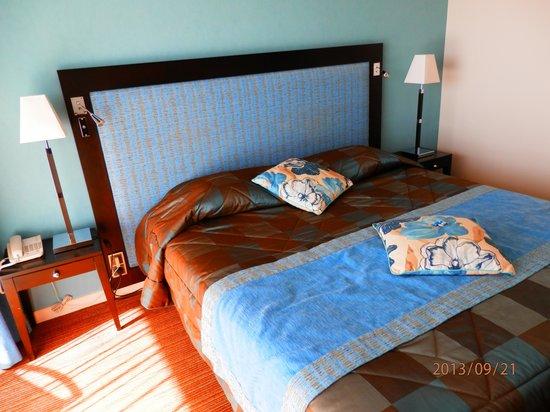 Domaine de Saint-Clair : chambre et lit
