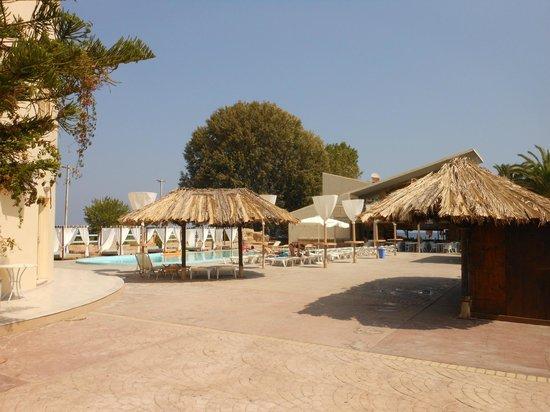 Island Beach Resort : View of the swimming pool area.