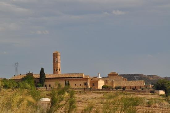 Monasterio De Rueda: vue générale à l'arrivée