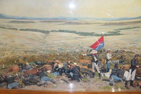 Little Bighorn Battlefield National Monument: Nachstellung der Schlacht