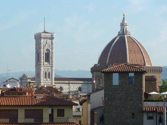 Pitti Palace al Ponte Vecchio : View from the rooftop restaurant