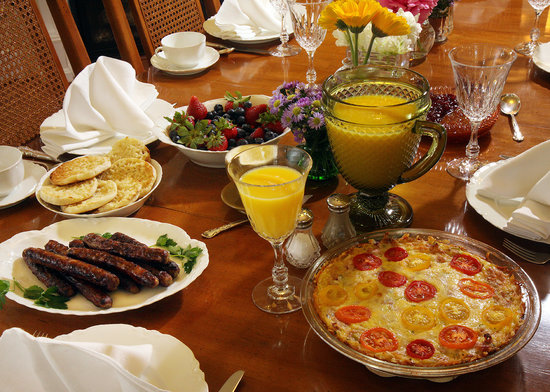 Lavender Heights Bed and Breakfast: Delicious Breakfast