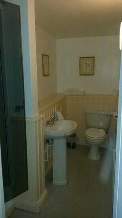 The Edgcumbe Arms: Twin room bathroom