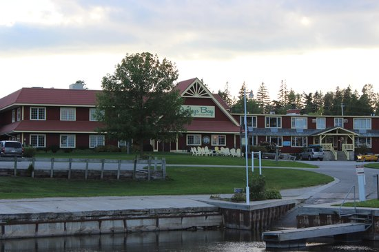 Rowleys Bay Resort: looking at the Resort from the boat landing