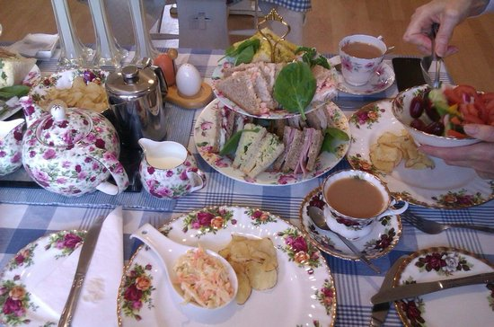 The Buttley Tearoom: The delicious sandwiches & salads