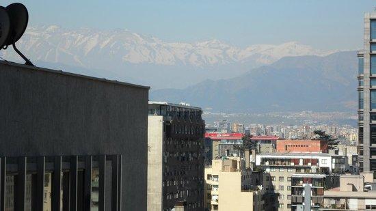 Chile Apart Hotel : vista da janela do apartamento