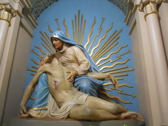 St Joseph Catholic Church : Maria Magdelena consoles the hurt Christ