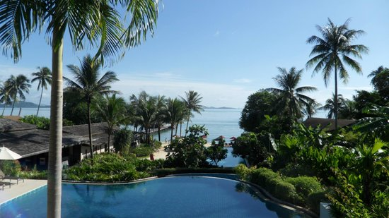 The Village Coconut Island Beach Resort: Looking down to the top infinity pool