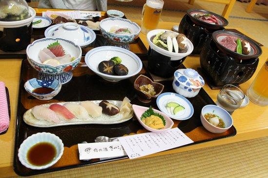Kinokoya: あわび付特別和食膳