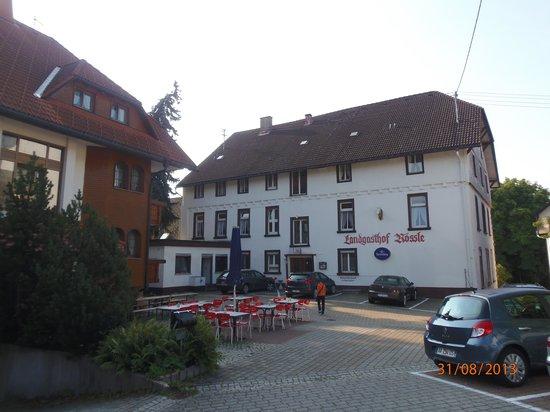 Landgasthof Rössle: Area de estacionamiento