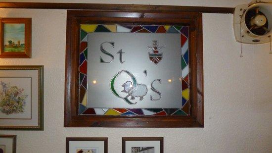St Quintin Arms Inn: Window in the pub