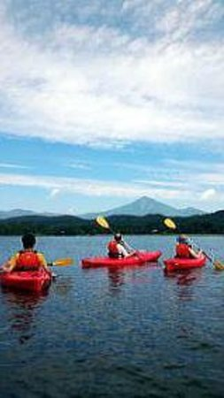 Lake Inawashiro: 磐梯山