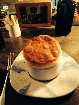 Rise no. 1: corn and green chili souffle from Rise