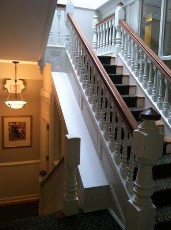 Victorian Hotel: Interior staircase