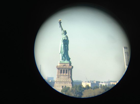 View Through The Telescope In The Statue Of Liberty Room