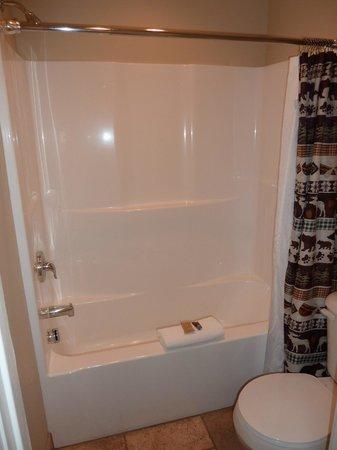 Moose Creek Inn: Salle de bain, petite mais propre