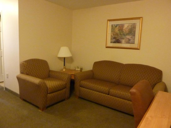 Country Inn & Suites by Radisson, Dubuque, IA : living area