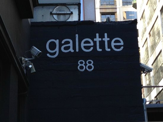 Galette 88: The sign above the door - simple and