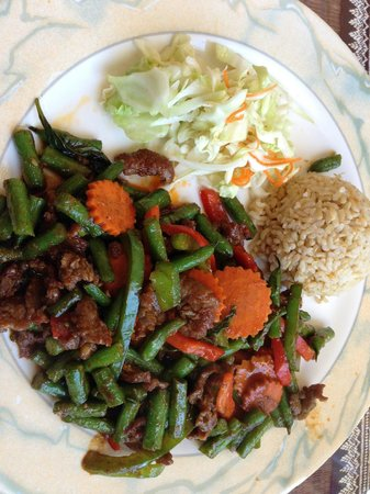 Ruen Tong: Spicy beef and green beans