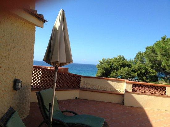Hotel Biodola: Der Balkon/Terrasse
