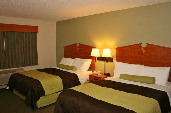 AmericInn by Wyndham Wabasha : Double Bed Room, very green looking!