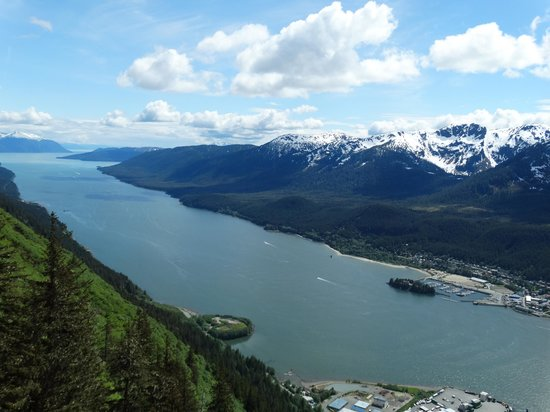 Best Western Grandma'S Feather Bed: Gastineau Channel from on top of Mt Roberts